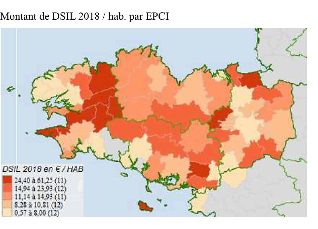 Montant de dotation de soutien à l'investissement local (DSIL) 2018/hab par EPCI